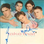 """Take That Everything Changes - Autographed UK 7"""" vinyl"""