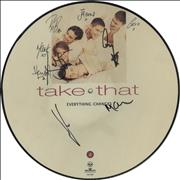 Take That Everything Changes - Autographed UK picture disc LP