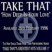 Take That How Deep Is Your Love UK CD single Promo