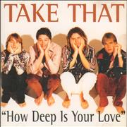 Take That How Deep Is Your Love Japan CD single Promo