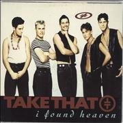 "Take That I Found Heaven - Poster Sleeve UK 7"" vinyl"
