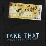 Take That Progress Live 2011 + ticket & bag UK tour programme