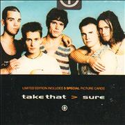 Take That Sure - Picture Card Pack UK CD single