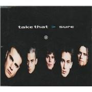 Take That Sure UK CD single