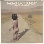 Click here for more info about 'Taking Back Sunday - Where You Want To Be - Green Vinyl'