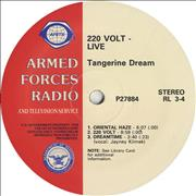 Click here for more info about 'Tangerine Dream - 220 Volt - Live'