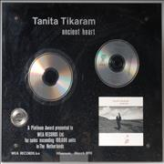 Click here for more info about 'Tanita Tikaram - Ancient Heart - Platinum Award'