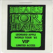 Click here for more info about 'Tears For Fears - Backstage Pass'