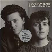 Tears For Fears Songs From The Big Chair - 'New Album' Stickered Sleeve UK vinyl LP