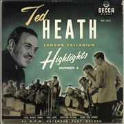 Click here for more info about 'Ted Heath - London Palladium Highlights Number 4 EP'