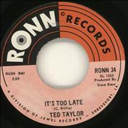 Click here for more info about 'Ted Taylor - It's Too Late'