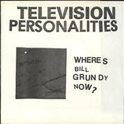 Click here for more info about 'Television Personalities - Where's Bill Grundy Now ? EP - Black Square Sleeve'