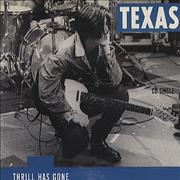 Texas Thrill Has Gone UK CD single