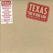 Texas Tired Of Being Alone Acoustic E.P. UK CD single