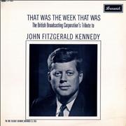 That Was The Week That Was John Fitzgerald Kennedy UK vinyl LP