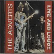 Click here for more info about 'The Adverts - Live And Loud!! - Autographed'