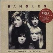 Click here for more info about 'The Bangles - Going Down To Liverpool + Michael & Vicki Postcard'
