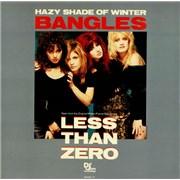 """The Bangles Hazy Shade Of Winter UK 12"""" vinyl"""