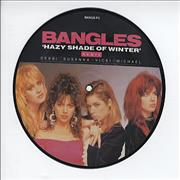 """The Bangles Hazy Shade Of Winter UK 7"""" picture disc"""