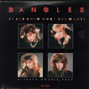 """The Bangles If She Knew What She Wants - Double Pack UK 7"""" vinyl"""