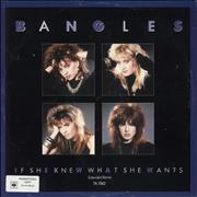 Click here for more info about 'The Bangles - If She Knew What She Wants - promo sticker'