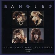 """The Bangles If She Knew What She Wants UK 12"""" vinyl"""