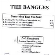 Click here for more info about 'The Bangles - Something That You Said'