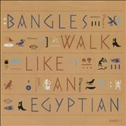 """The Bangles Walk Like An Egyptian UK 7"""" vinyl"""