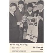 The Beatles 1963 Oxfam Hunger £Million Campaign UK memorabilia