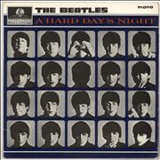 The Beatles A Hard Day's Night - 1st - Stickered Label UK vinyl LP