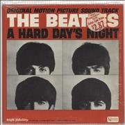The Beatles A Hard Day's Night - 1st - stickered shrink USA vinyl LP