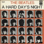 The Beatles A Hard Day's Night - Light Blue Label -VG Italy vinyl LP