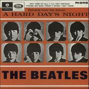 "The Beatles A Hard Day's Night EP No. 2 - EMI Records UK 7"" vinyl"