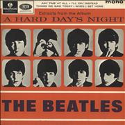 """The Beatles A Hard Day's Night No. 2 EP - 1st - EX UK 7"""" vinyl"""