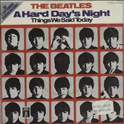 "The Beatles A Hard Day's Night Germany 7"" vinyl"