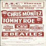 The Beatles ABC Romford, March 20th 1963 + Ticket UK handbill