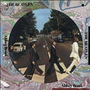 The Beatles Abbey Road - Sealed - punch-hole USA picture disc LP