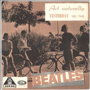 "The Beatles Act Naturally + Sleeve Norway 7"" vinyl"