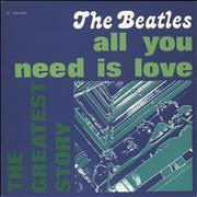 """The Beatles All You Need Is Love Italy 7"""" vinyl"""