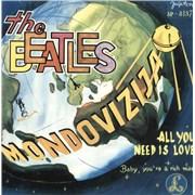 "The Beatles All You Need Is Love Yugoslavia 7"" vinyl"