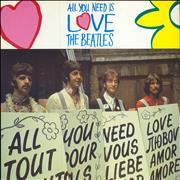 """The Beatles All You Need Is Love UK 12"""" vinyl"""