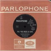 "The Beatles All You Need Is Love Australia 7"" vinyl"