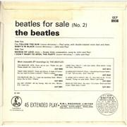 "The Beatles Beatles For Sale (No 2) EP - EMI Text - EX UK 7"" vinyl"