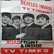 The Beatles Beatles Invade TV Times UK poster
