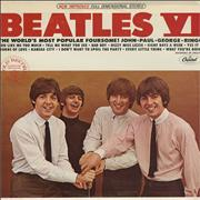 The Beatles Beatles VI - Peach - RIAA Seal USA vinyl LP