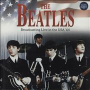 The Beatles Broadcasting Live in the USA '64 - Blue Vinyl UK vinyl LP
