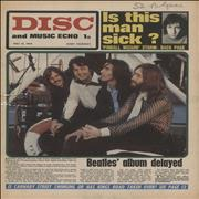 The Beatles Disc And Music Echo - May 1969 UK magazine