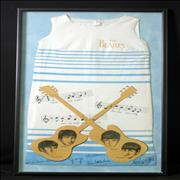 Click here for more info about 'Dress - Blue Stripes/Brown Logo - Framed'