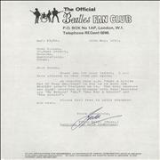 Click here for more info about 'The Beatles - Fan Club Letter - Signed By Freda Kelly'