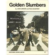 The Beatles Golden Slumbers UK sheet music